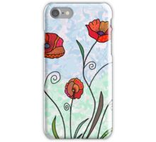 poppies and butterfly iPhone Case/Skin