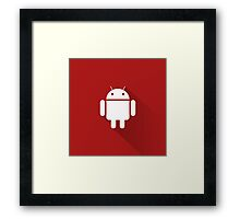 Red Droid Framed Print