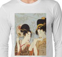 Asian Art Geishas Long Sleeve T-Shirt