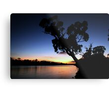 Murray River Sun Rise at Young Husband Metal Print