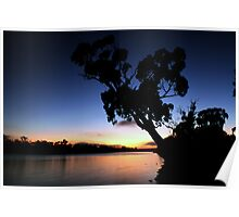 Murray River Sun Rise at Young Husband Poster