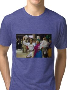 Joyful Dancers - Painting Tri-blend T-Shirt
