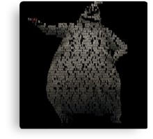 Oogie Boogie Typography Canvas Print