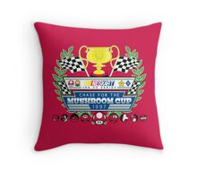 Chase for the Mushroom Cup Throw Pillow