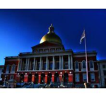 Massachusetts State House Photographic Print