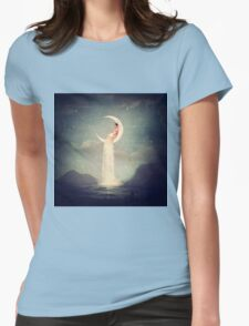 Moon River Lady Womens Fitted T-Shirt