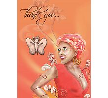 Thank you Photographic Print