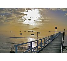 Cameron's Bight Jetty & boats Photographic Print