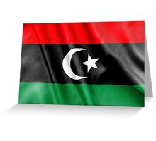 Libya Flag Greeting Card