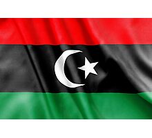 Libya Flag Photographic Print