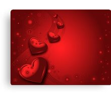 Red valentines card Canvas Print