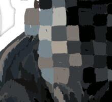 glitch grey cat Sticker