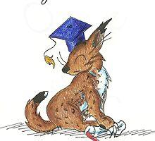 Bobcat Graduate by KOKeefeArt