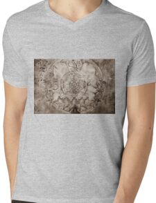 OM AH HUM (sepia) Mens V-Neck T-Shirt