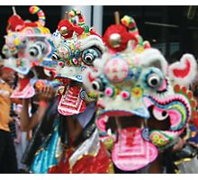Chinese Dragon Dance Photographic Print