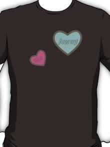 Go Away Hearts Design T-Shirt