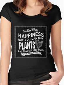 Happy Plants Women's Fitted Scoop T-Shirt