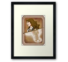 Hermione Granger Playing Card Framed Print