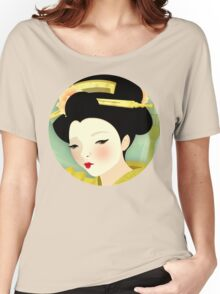 Geisha: Olive Women's Relaxed Fit T-Shirt