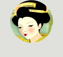 Geisha: Olive Womens Fitted T-Shirt
