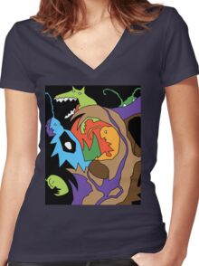 Creatures X Women's Fitted V-Neck T-Shirt