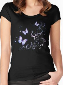 Ribbons and Butterflies Women's Fitted Scoop T-Shirt