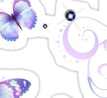 Ribbons and Butterflies Sticker