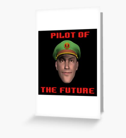 Pilot of the Future. Greeting Card