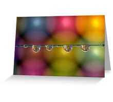 Coloured drops Greeting Card