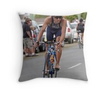 Finishing the Ride Throw Pillow