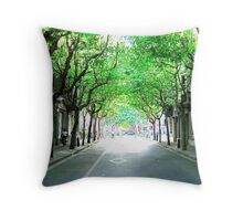 GREEN? Throw Pillow