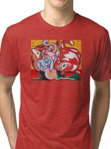 'Kitties at Play' Tri-blend T-Shirt