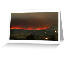 Healesville area fires, 9th Feb 2009. Greeting Card