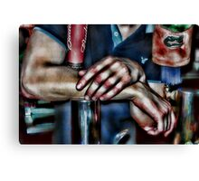 Bartender Arms with Florida Gator Tap Cover Canvas Print
