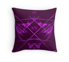 Purple Lines Throughout Throw Pillow