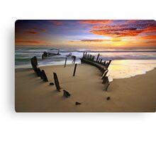 Sunrise Dicky Beach Canvas Print