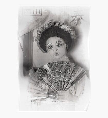 Geisha Girl Art Poster