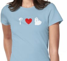 I Heart Happily Ever After (Classic Logo) (Inverted) Womens Fitted T-Shirt