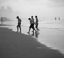 Surfers at surfers by Stephen Denham