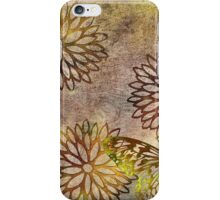 Bronze Flowers and Gold Butterfly iPhone Case/Skin