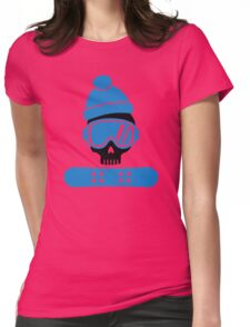 Snowboard skull Womens Fitted T-Shirt