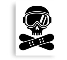 Snowboard skull goggles Canvas Print