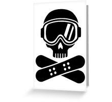 Snowboard skull goggles Greeting Card