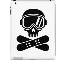 Snowboard skull goggles iPad Case/Skin