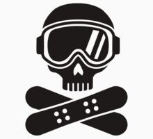 Snowboard skull goggles One Piece - Long Sleeve