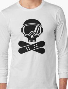 Snowboard skull goggles Long Sleeve T-Shirt