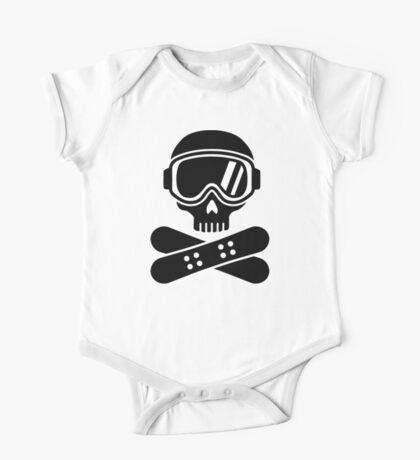 Snowboard skull goggles One Piece - Short Sleeve