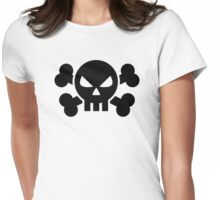 Skull crossed bones Womens Fitted T-Shirt