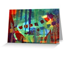 Colage abstract  Greeting Card
