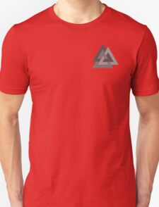 Valknut - Silver borromean VIKING SYMBOL (logo sized) Unisex T-Shirt